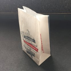 Bloc à bas prix bas des sacs en papier avec le logo en vrac le commerce de gros