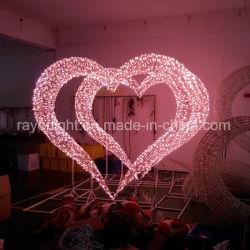 Conduit grand coeur la décoration de jardin décoration de Noël Motif LED lumière