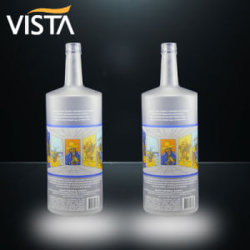 330ml de vino vacía Wholesale botellas de zumo de vidrio con recubrimiento de color de las botellas de cerveza, botellas de 330ml