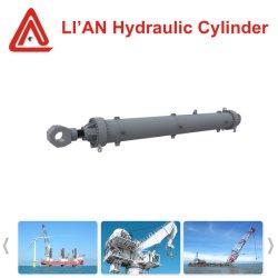 Teleskopischer Hydrauliköl-hydraulischer Spulenkern-Zylinder mit geschmiedetem Stahlkolbenstange