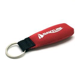 الترويج للمصنع شعار النيوبرين المطبوع يحمل حامل سلسلة مفاتيح عائمة مع حلقة معدنية