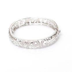 Scavare fuori l'argento sterlina 925 d'avanguardia del braccialetto con la CZ
