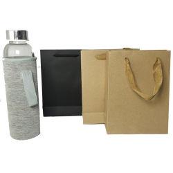 Épaisseur du papier kraft sac jaune vin Bouteille d'impression personnalisé à l'emballage