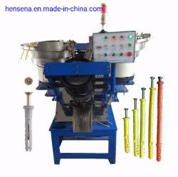 Volle automatische Anschluss-Stecker-Befestigungsteil-Dübel-und Nagel-Montage-Maschine für Nylonrahmen-Festlegung-Anker