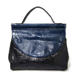 Contraste de moda em couro genuíno Bag para mulher com metade da tampa do Círculo