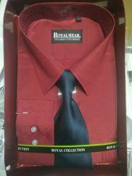 Mode de chemises à manches longues hommes chemise personnalisée