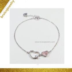 cadeau de promotion Trendy bijoux en diamants 18K 14K 9K Bijoux en Or Rose Bracelet à breloque avec CZ