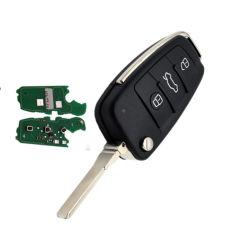 La clave remoto de 3 botones con el ID48 Chip 434MHz 315MHz 8P0837220d para Audi A3 Tt Car Key