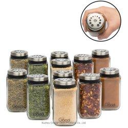 Les bocaux en verre Réglable Spice, Premium assaisonnement Shaker Rub boîtes du conteneur