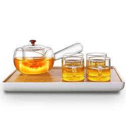 Haut de verre élégant théière en verre borosilicaté théière avec tasse pour cadeau