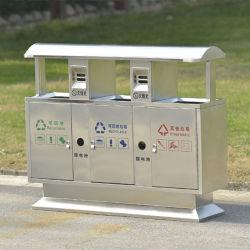 Recyceln Sie Square Edelstahl Staub / Müll / Abfall / Müll Behälter