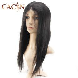 La mejor calidad al por mayor de la moda de la mitad sintético los encajes de larga peluca cabello humano.