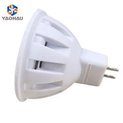Installation facile Bean blanc chaud Angle ronde 120deg CMS en plastique 2835 4W Lampe LED MR16 tasses Spotlight