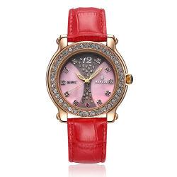 À la mode en cuir de la femme de bijoux de quartz watch avec alliage (cas JY-PU018)