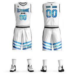 Design de vestuário de uniforme de basquete Jersey Plena Sublimação de tecido de poliéster