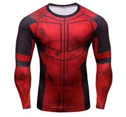 Мужская мода активного износа дышащий полиэстер трикотажные спортивной одежды