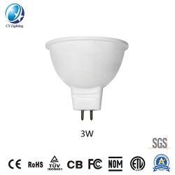 Venda a quente Gu5.3 MR16 Fabricante Tipo lâmpada LED 3W 270lm com 60 graus de ângulo do feixe