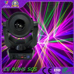 4WアニメーションのディスコDJはRGB移動ヘッドレーザー光線を上演する