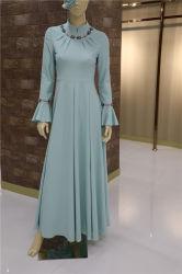 Elegante vestido de Chiffon Abaya musulmán Maxi vestido islámico de manga larga para las mujeres&señoras