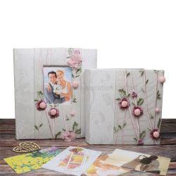 ledernes Buch-verklemmter kundenspezifischer Beleg PU-6X4 im Hochzeits-Foto-Album