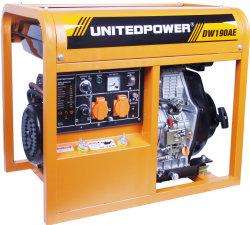 Dw190aed 50Hz 5kw/5.5kw, generatore diesel della saldatura 5000With5500W con potere unito