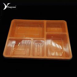 卸し売りプラスチック食糧食事の準備のBentoの容器5コンパートメント1000mlマイクロウェーブ