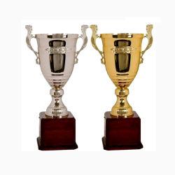 OEMカスタム亜鉛合金の金賞のコップの高品質の昇進の樹脂の金属は遊ばす装飾(059)のための装飾の世界のチャンピオンのクラフトメダルトロフィ賞を