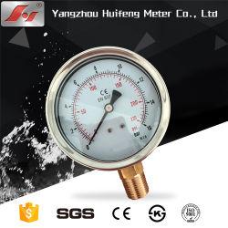 """63mm 100mm 2,5 """" 4 """" Zoll New Style Stainless Manometer mit Flüssigdruckmesser aus Stahlglyzerin oder Silikonöl"""