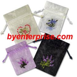 Wrapper Organza pura, bolsas bordados