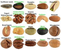 Hohe Nahrung-gesunde Imbiss-Nahrungsmitteljoghurt-Aroma-Walnuss-Kern-köstliche Muttern
