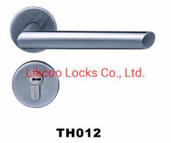 La moderna de acero inoxidable 304 de la palanca de la puerta de la cerradura balseta tubo hueco de la empuñadura (Th012)