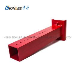 공장에서 탄소강 사각 튜브 용접 코팅 레드 브래킷 생산 용접 파트