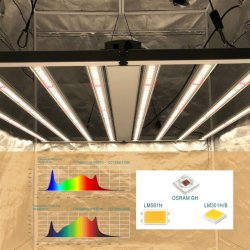 830W plein spectre IR LED UV Bar Gavita PRO 1700e croître la lumière LED de Samsung
