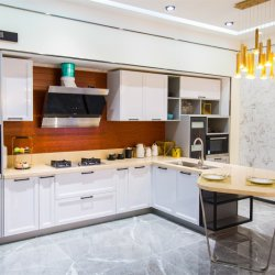 País de alta calidad de metal moderno mobiliario de Casa Perfil de aluminio Aluminio gabinetes de cocina