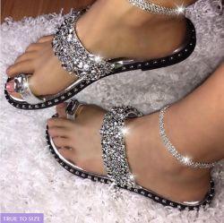 La mujer, zapatos de mujer Zapatillas casual para el verano, Lujo Glitter mujer sandalias zapatillas
