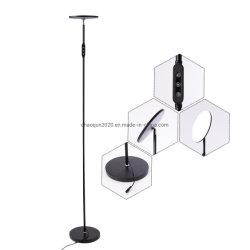 Металлические Torchiere напольный светильник под руководством напольная лампа 30 Вт (150 Вт) постоянного настольная лампа с сенсорным регулятором яркости, 90° регулируемая головка подходит для интерьера