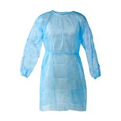 Vêtements de protection jetables, PP robes d'isolement médical - élastique et poignets tricotés