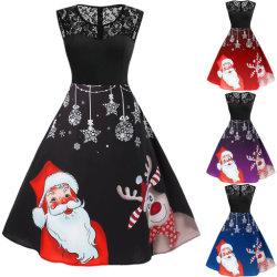 여성 줄무늬 드레스 정식 웨딩 파티 드레스 프린세스 크리스마스 드레스 의상복 슬리브리스 여성 의류