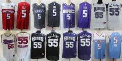 Bon marché de gros Newest Sacramento Kings Fox Williams maillots de basket-ball de la ville classique