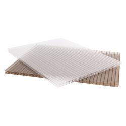 Polycarbonat Hohlblech Doppelwand Gebäude Material Sonnenblech Gewächshaus Paneele 6mm Dicke PC-Blatt Kunststoffplatten Dachblech Garten Haus Blumenhaus