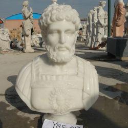 손에 의하여 새겨지는 유럽식 백색 대리석 남자 흉상 조각품