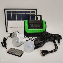 محمول مع راديو FM يعمل بالطاقة الشمسية Bluetooth المجموعة الشمسية