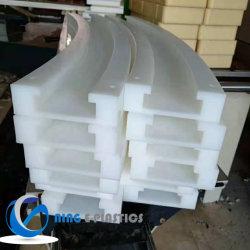 Baixo coeficiente de fricção dureza PE 1000 Plástico tira de desgaste para a cadeia UHMW Personalizado de peças de plástico