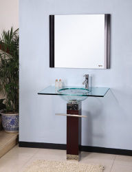 حامل قفص خشبيّة حوض زجاجيّة ([فس-7010])