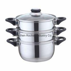 Venta al por mayor negro de baquelita personalizados baratos manejar el cuscús olla Vaporera Pot