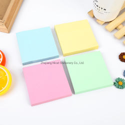 Kantoorbenodigdheden 76X76mm licht gekleurde pastelkleurige sticky opmerkingen