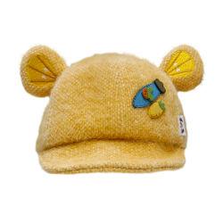 Высокое качество пользовательских вышивка шерсть Детский Cute бейсбола колпачок с несут уха
