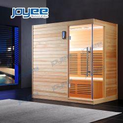 Tamaño personalizado de forma moderna de madera interior Sauna tradicional de la Junta de calor por infrarrojos 2 3 4 persona pino blanco de tamaño de la cicuta// Cedro Rojo