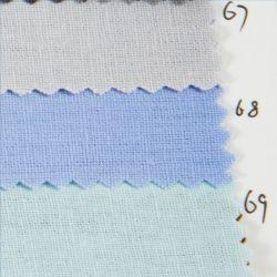 Stock de Mode Linge de Textile 55% 45% coton Poplin ordinaire de la conception des tissus teints pour vêtement