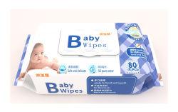 Bebé toalla mojada 80 Apertura de la mano a mano toalla de papel húmeda boca tapa especial toalla de papel húmeda mayorista personalizado